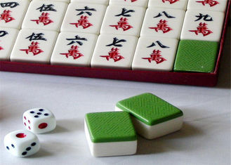 Blue / Green Back  Mahjong Tiles Mahjong Cheating Devices With IR Marks For Cheating